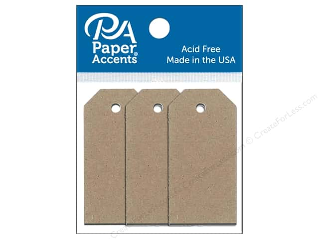 Paper Accents Craft Tags 7/8 x 1 3/4 in. 25 pc. Brown Bag