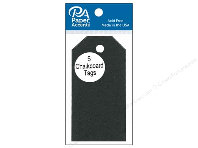 Paper Accents Craft Tags 2 1/8 x 4 1/4 in. 5 pc. Adhesive Chalkboard
