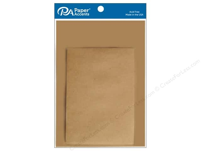 Paper Accents Blank Card & Envelopes - 5 x 7 in. - Brown Bag 8 pc.