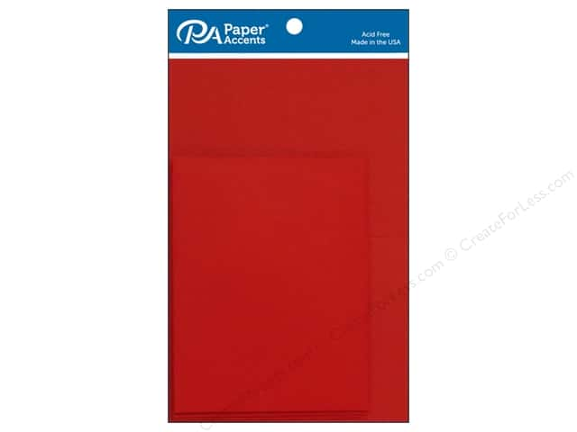 Paper Accents 4 1/4 x 5 1/2 in. Blank Card & Envelopes 8 pc. Dark Red