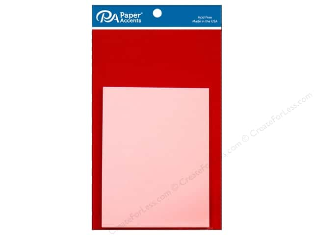 Paper Accents 4 1/4 x 5 1/2 in. Blank Card & Envelopes 8 pc. Dark Red & Light Pink