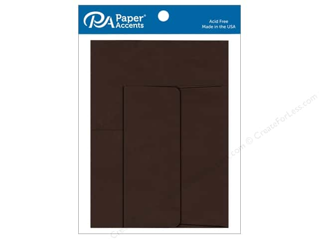 Paper Accents 4 1/4 x 5 1/2 in. Blank Card & Envelopes 8 pc. Hot Fudge