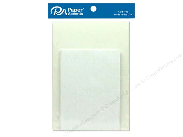 Paper Accents 5 x 7 in. Blank Card & Envelopes 10 pc. #128 White