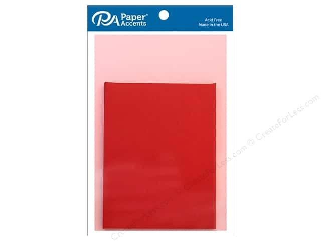 Paper Accents 4 1/4 x 5 1/2 in. Blank Card & Envelopes 8 pc. Light Pink & Dark Red