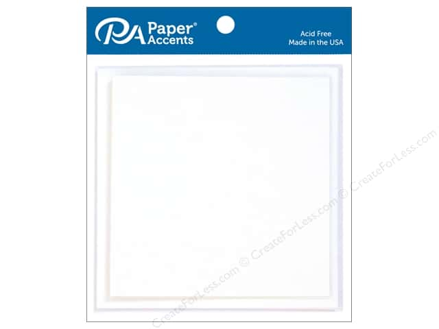 Paper Accents 5 x 5 in. Blank Card & Envelopes 5 pc. #128 White