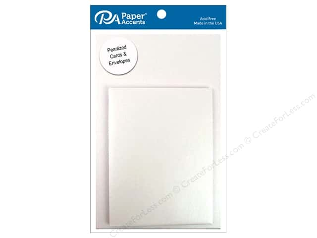 4 1/4 x 5 1/2 in. Blank Card & Envelopes by Paper Accents 6 pc. Pearlized Bright White