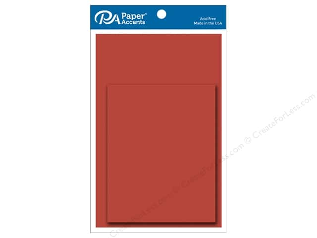 Paper Accents 4 1/4 x 5 1/2 in. Blank Card & Envelopes 8 pc. Dusty Red