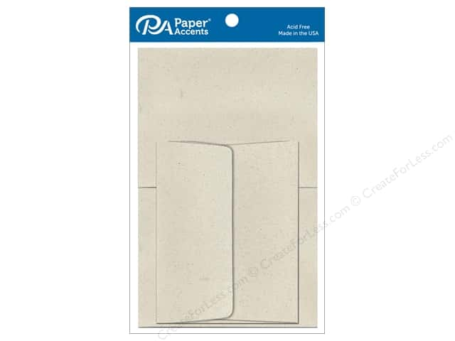 Paper Accents 4 1/4 x 5 1/2 in. Blank Card & Envelopes 8 pc. Beach Sand