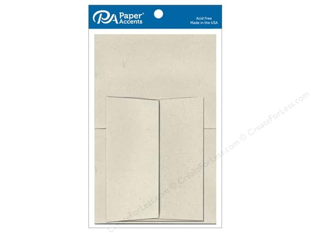 Paper Accents 5 x 7 in. Blank Card & Envelopes 8 pc. #363 Beach Sand