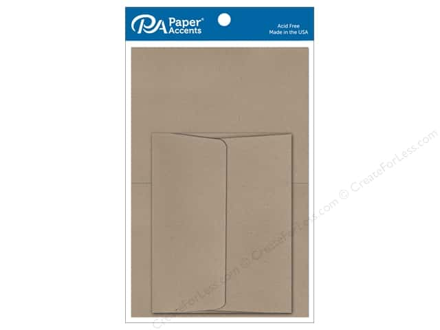 Paper Accents 5 x 7 in. Blank Card & Envelopes 8 pc. #364 Russet