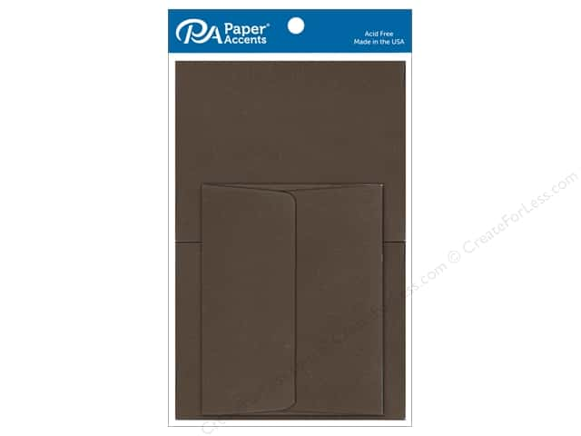 Paper Accents 5 x 7 in. Blank Card & Envelopes 8 pc. #365 Cocoa