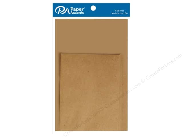Paper Accents 4 1/4 x 5 1/2 in. Blank Card & Envelopes 10 pc. Brown Bag