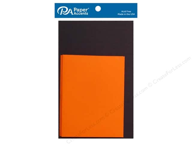 Paper Accents 4 1/4 x 5 1/2 in. Blank Card & Envelopes 10 pc. Black & Orange