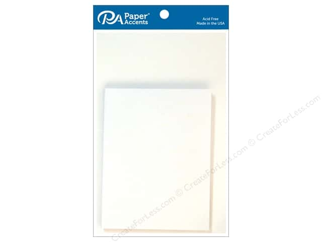 Paper Accents 4 1/4 x 5 1/2 in. Blank Card & Envelopes 10 pc. Glossy White
