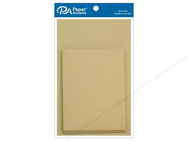 Paper Accents 4 1/4 x 5 1/2 in. Blank Card & Envelopes 10 pc. #304 Kraft