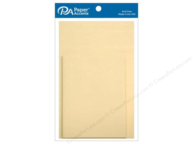 Paper Accents 4 1/4 x 5 1/2 in. Blank Card & Envelopes 10 pc. Pearlized Cream