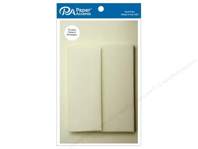 Paper Accents 4 1/4 x 5 1/2 in. Blank Card & Envelopes 10 pc. Ivory Linen