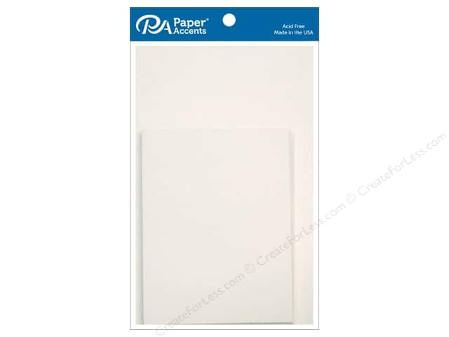 Paper Accents 4 1/4 x 5 1/2 in. Blank Card & Envelopes 10 pc. Linen White