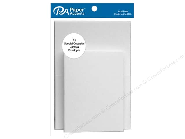 Paper Accents 2 1/2 x 3 1/2 in. Blank Card & Envelopes 15 pc. White