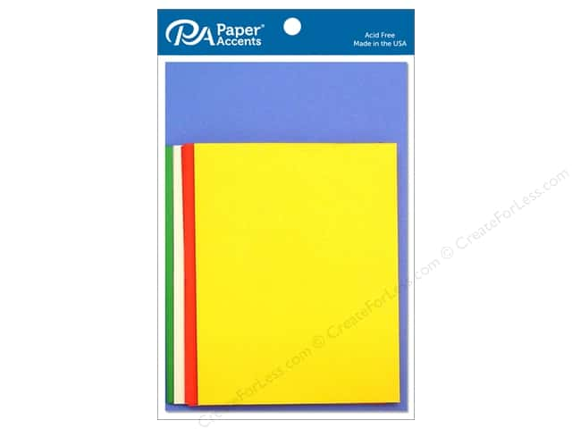 Paper Accents 4 1/4 x 5 1/2 in. Blank Card & Envelopes 10 pc. Primary
