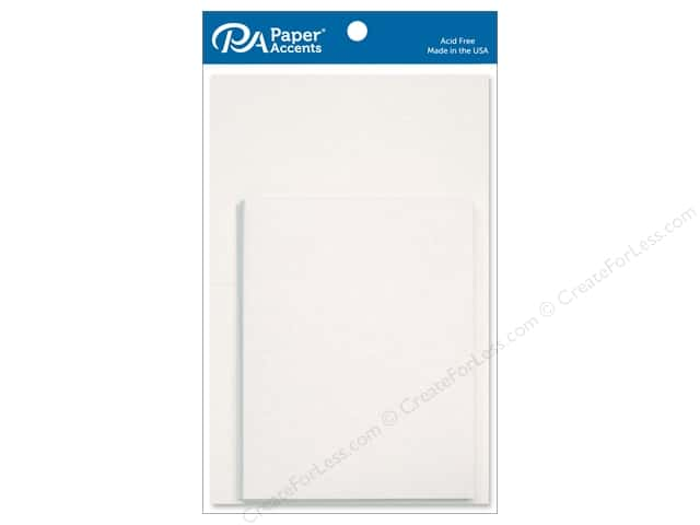 Paper Accents 4 1/4 x 5 1/2 in. Blank Card & Envelopes 10 pc. White