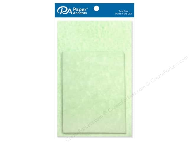 Paper Accents 4 1/4 x 5 1/2 in. Blank Card & Envelopes 10 pc. Green Parchment