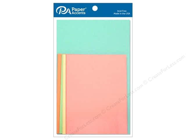 Paper Accents 4 1/4 x 5 1/2 in. Blank Card & Envelopes 10 pc. Pastel