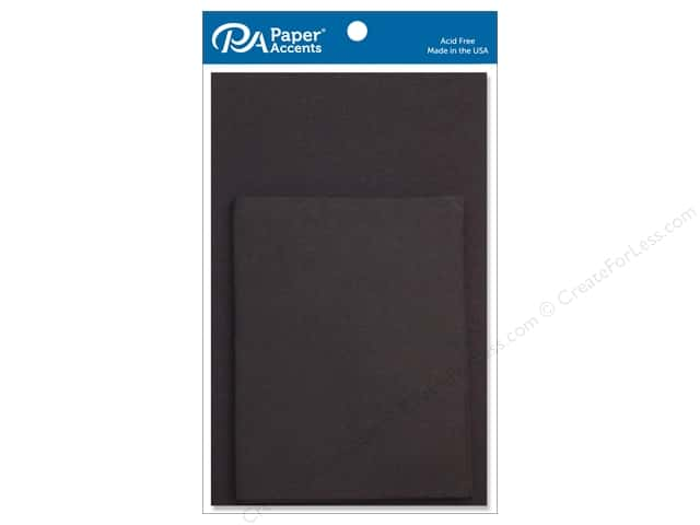 Paper Accents 4 1/4 x 5 1/2 in. Blank Card & Envelopes 10 pc. Black
