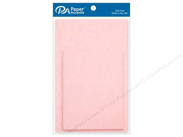 Paper Accents 4 1/4 x 5 1/2 in. Blank Card & Envelopes 10 pc. Pink Parchment