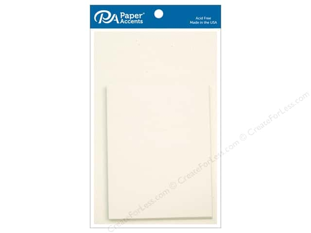 Paper Accents 4 1/4 x 5 1/2 in. Blank Card & Envelopes 10 pc. Recycled Birch