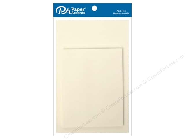 Paper Accents 4 1/4 x 5 1/2 in. Blank Card & Envelopes 10 pc. Parchment White