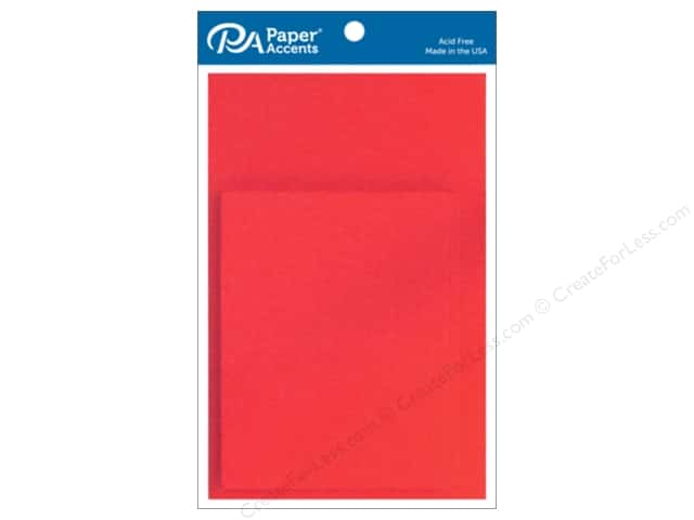 Paper Accents 4 1/4 x 5 1/2 in. Blank Card & Envelopes 10 pc. Red