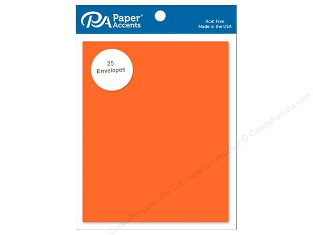 Paper Accents 4 1/4 x 5 1/2 in. Envelopes 25 pc. #104 Orange