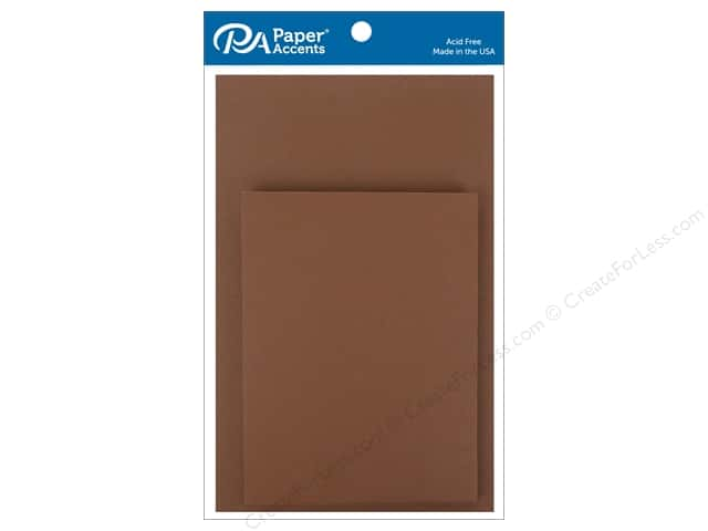 Paper Accents 4 1/4 x 5 1/2 in. Blank Card & Envelopes 10 pc. Espresso