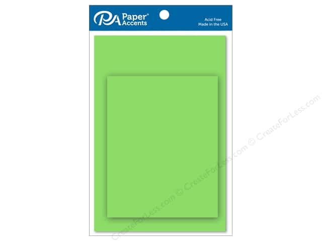 Paper Accents 4 1/4 x 5 1/2 in. Blank Card & Envelopes 10 pc. Lime Green