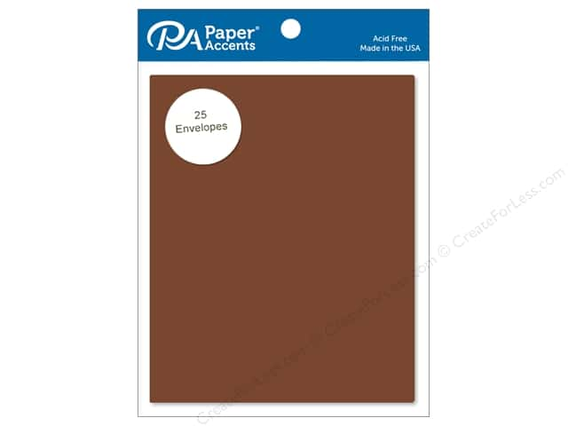 Paper Accents 4 1/4 x 5 1/2 in. Envelopes 25 pc. #725 Espresso