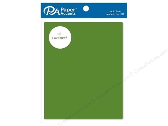Paper Accents 4 1/4 x 5 1/2 in. Envelopes 25 pc. #10105 Green Parrot