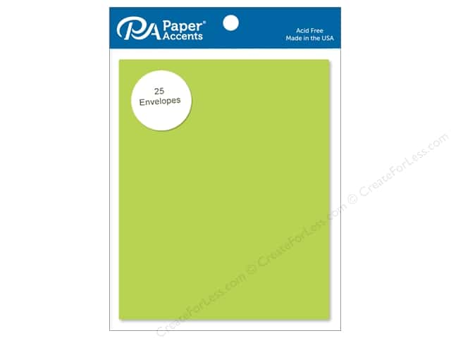 Paper Accents 4 1/4 x 5 1/2 in. Envelopes 25 pc. #195 Sour Apple
