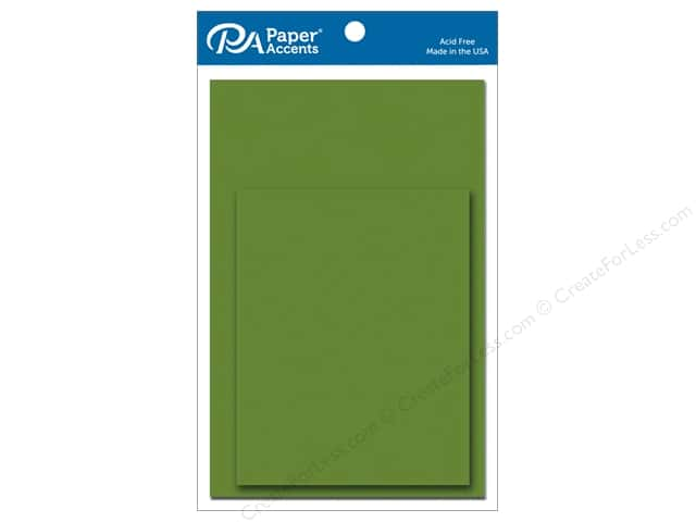 Paper Accents 4 1/4 x 5 1/2 in. Blank Card & Envelopes 10 pc. Green Parrot
