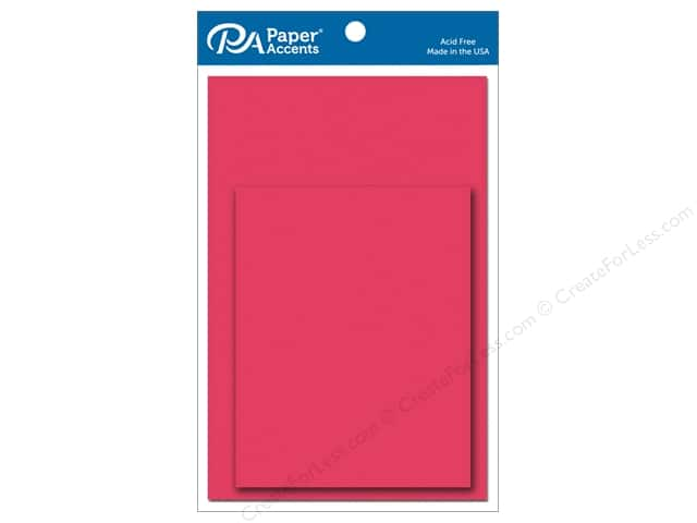 Paper Accents 4 1/4 x 5 1/2 in. Blank Card & Envelopes 10 pc. Razzle Berry