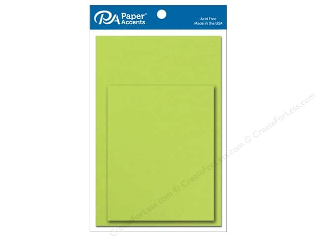 Paper Accents Blank Card & Envelopes - 4 1/4 x 5 1/2 in. - Sour Apple 10 pc.