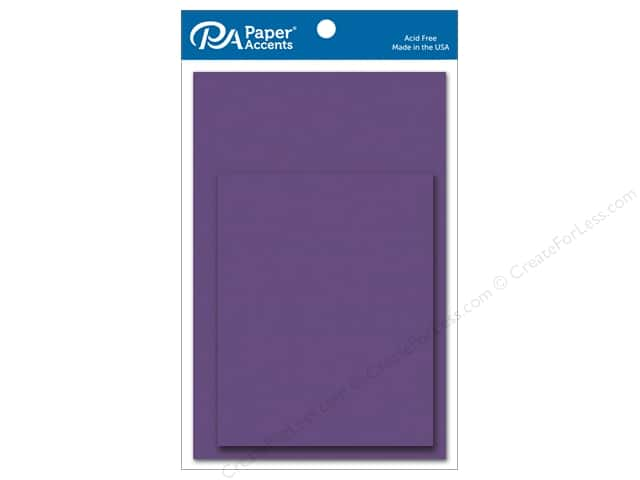 Paper Accents 4 1/4 x 5 1/2 in. Blank Card & Envelopes 10 pc. Grape Soda