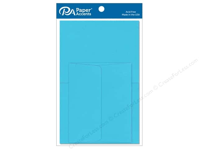 Paper Accents 4 1/4 x 5 1/2 in. Blank Card & Envelopes 10 pc. Blue