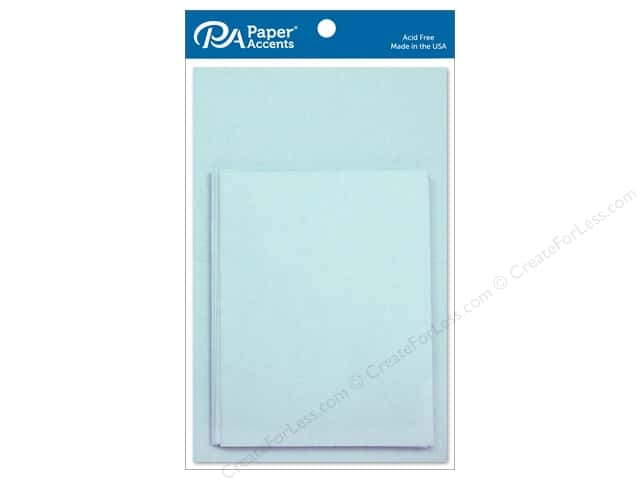 Paper Accents 4 1/4 x 5 1/2 in. Blank Card & Envelopes 10 pc. Light Blue