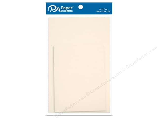 Paper Accents 4 1/4 x 5 1/2 in. Blank Card & Envelopes 10 pc. Cream