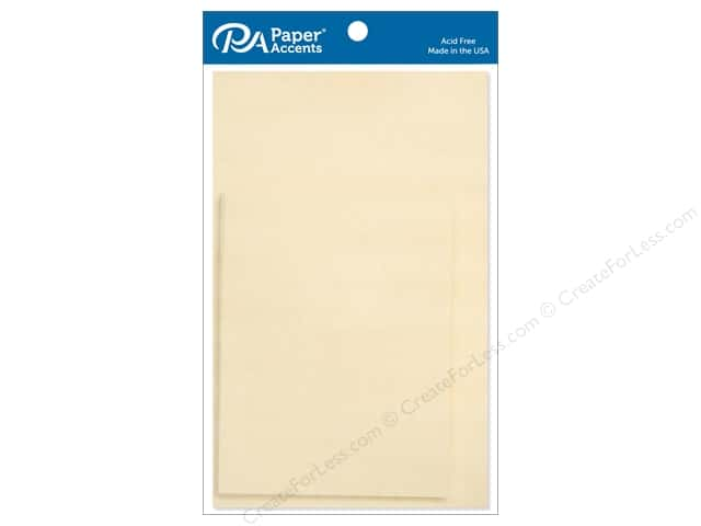 Paper Accents 4 1/4 x 5 1/2 in. Blank Card & Envelopes 10 pc. Ivory