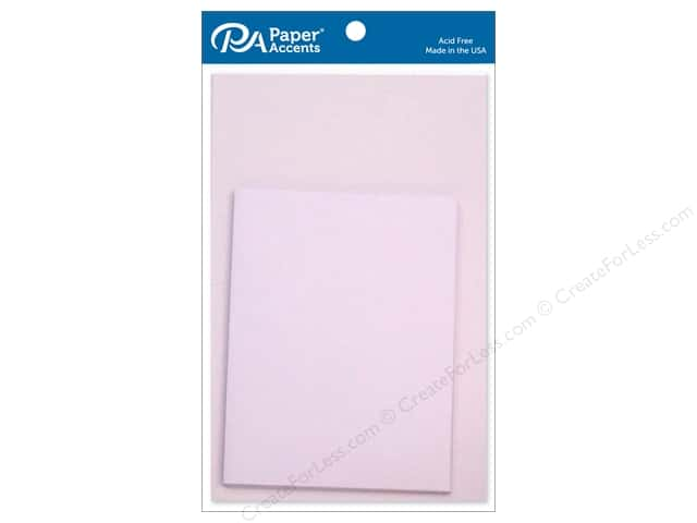 Paper Accents 4 1/4 x 5 1/2 in. Blank Card & Envelopes 10 pc. Lavender