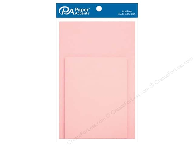 Paper Accents 4 1/4 x 5 1/2 in. Blank Card & Envelopes 10 pc. Light Pink
