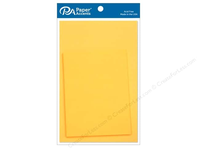 Paper Accents 4 1/4 x 5 1/2 in. Blank Card & Envelopes 10 pc. CanaryYellow