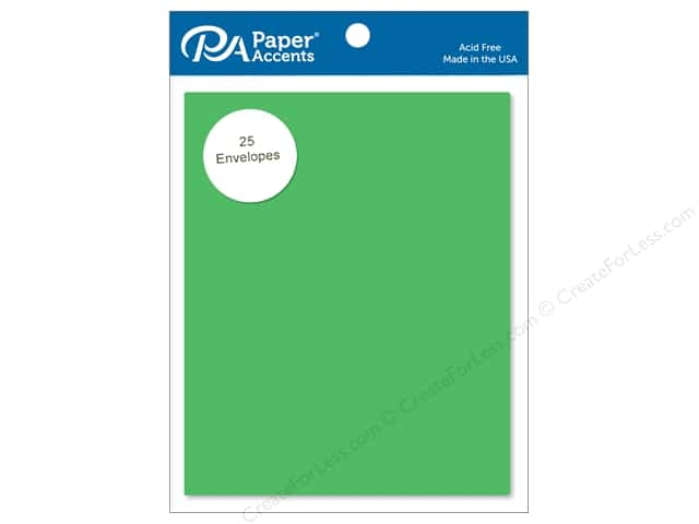 Paper Accents 4 1/4 x 5 1/2 in. Envelopes 25 pc. #148 Green Grass